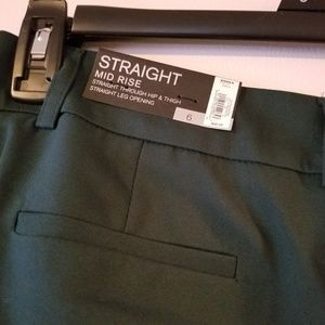 Apt 9 Torie Straight Pants Hunter Green Size 6